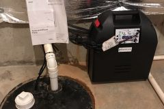 Battery back up sump pump installation