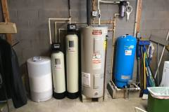Installation of acid neutralizer, water  softener and sediment filter!